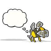 cartoon bee — Vector de stock