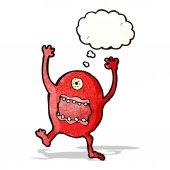 Monstro maluco dos desenhos animados — Vetor de Stock