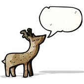 мультфильм олень — Cтоковый вектор