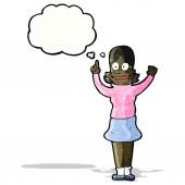 Clever woman cartoon — Stock Vector