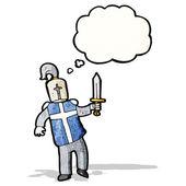 卡通骑士 — 图库矢量图片