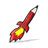卡通铅笔火箭 — 图库矢量图片