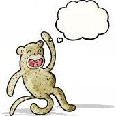 Cartoon crazy monkey — Stockvektor