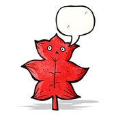 Leaf cartoon character — Stock Vector