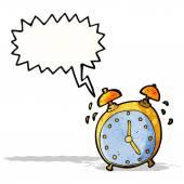 漫画目覚まし時計 — ストックベクタ