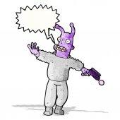 Cartoon alien space man — Vector de stock
