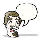 Cartoon shocked man with goatee beard — Stock Vector