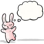Cartone animato carino coniglio — Vettoriale Stock