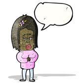 Cartoon nerveuze vrouw — Stockvector