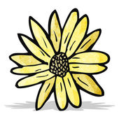 Flower cartoon — Stock Vector