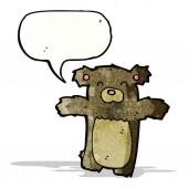 Cartoon teddy bear with speech bubble — Stock Vector