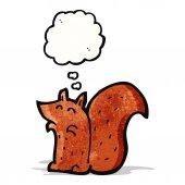 Esquilo de desenhos animados — Vetorial Stock