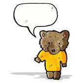 Cartoon bear in tee — Vetorial Stock