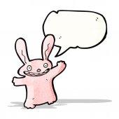 Coelho de desenho animado-de-rosa — Vetorial Stock