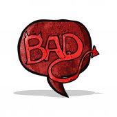 Cartoon bad symbol — Vector de stock
