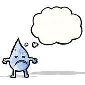 Cartoon raindrop — Stock Vector