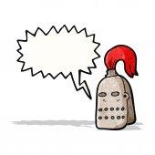 Cartoon knight's helmet — 图库矢量图片