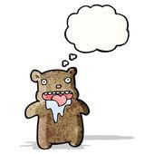 Cartoon drooling little bear — Stock Vector