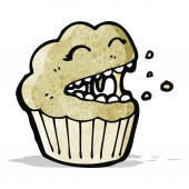 Cartoon muffin — Stock Vector