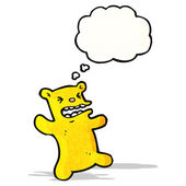 Cartoon angry little teddy bear — Stock Vector
