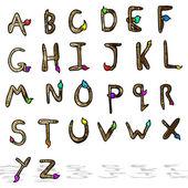 Cartoon alphabet — Stock Vector