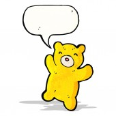 Cartoon teddy bear — Stok Vektör