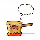 Cartoon copper saucepan — 图库矢量图片