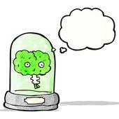 在罐子里的卡通脑 — 图库矢量图片