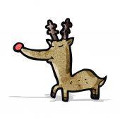 Cartoon rudolf red nosed reindeer — Vetorial Stock
