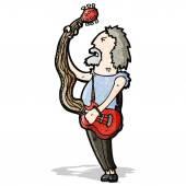 Cartoon alte gitarrist — Stockvektor