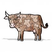 мультфильм корова — Cтоковый вектор