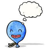 脸上的卡通蓝色气球 — 图库矢量图片