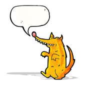 Cartoon scruffy dog with speech bubble — Stock Vector