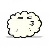 Cartoon-wolke mit gesicht — Stockvektor