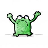 Cartoon unhappy frog — Stock Vector