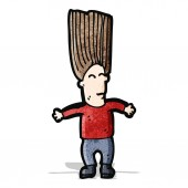 Hair raising fright cartoon — Vector de stock