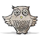 Kreskówka mądra sowa — Wektor stockowy