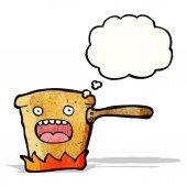 卡通热锅里 — 图库矢量图片