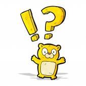 Surprised little bear cartoon — Stock Vector