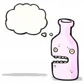 Personagem de desenho animado de garrafa — Vetor de Stock