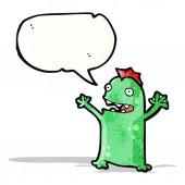 Cartoon little swamp monster — Stock Vector