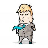 Happy office worker cartoon — Stockvektor