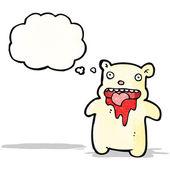 Cartoon gross polar bear — Stock Vector