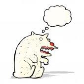 Komik karikatür kutup ayısı — Stok Vektör