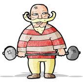 Cartoon zirkus strongman — Stockvektor