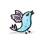 Cartoon exotische vogel — Stockvector