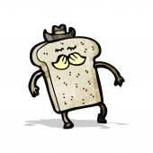 Cartoon slice of toast — Stock Vector