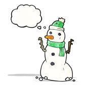 卡通雪人 — 图库矢量图片