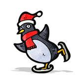 Karikatyr jul pingvin — Stockvektor