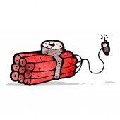 Kreskówka bomba — Wektor stockowy